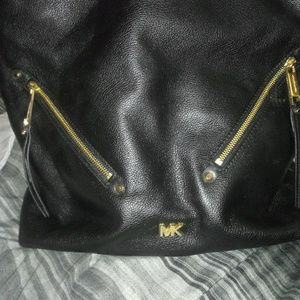 Brand new MK black leather hobo bag